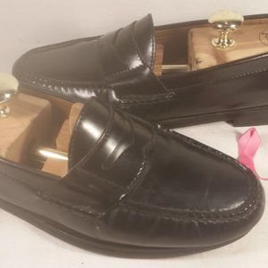 COLE HAAN MEN'S LEATHER BLACK PENNY LOAFER SZ 8.5M